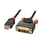 LINDY 36584 cavo di interfaccia e adattatore HDMI DVI-D Nero