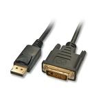LINDY 41491 2m DisplayPort HDMI Nero cavo e adattatore video