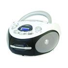 MAJESTIC AH-2387R MP3 USB Lettore CD personale Nero, Bianco
