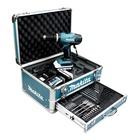 Makita HP457DWEX4 LI Trapano Percussione a Batteria con + Valigia + 70 accessori compresi