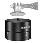 """Mantona 20867 testa per treppiede Nero Alluminio, Metallo, Sintetico 1/4"""" Panoramica"""