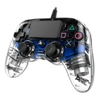 Nacon PS4OFCPADCLBLUE Gamepad PlayStation 4 Blu, Trasparente