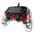 Nacon PS4OFCPADCLRED Gamepad PlayStation 4 Rosso, Trasparente