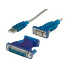 Nilox NX080500103 cavo di interfaccia e adattatore USB 1.1 A DB9/DB25 Blu