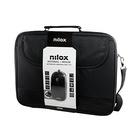 "Nilox NXMOS2156BK 15.6"" Custodia a tasca Nero"