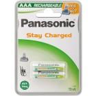 Panasonic P03P/2B750DECT ricaricabile Wentronic AAA 750mAh Nichel-Metallo Idruro