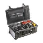 Peli Case 1510SC – valigia nera media con divisori+lid organizer