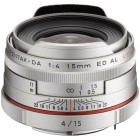 Pentax HD DA 15mm f/4.0 ED AL Limited Edition Silver