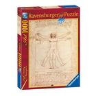 Ravensburger 15250 Leonardo da Vinci: L'uomo Vitruviano Puzzle 1000 pezzi