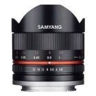 Samyang 8mm f/2.8 UMC Fish-eye II Fuji X Nero