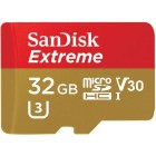 SanDisk 32GB Extreme MicroSDHC V30 100MB/S UHS-I Classe 10