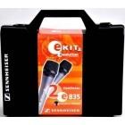 Sennheiser E kit 2 Valigia con 2 microfoni E835 + 2 clamp MZQ 800