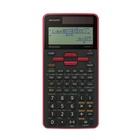 Sharp SH-ELW531TG Calcolatrice con display Nero, Rosso