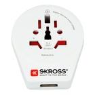Skross Hama World to Europe USB adattatore per presa di corrente Bianco