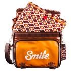 Smile 16508 custodia per fotocamera Borsa da corriere Marrone, Arancione, Bianco