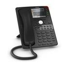 SNOM D765 telefono IP Nero Cornetta cablata TFT