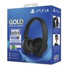 Sony Gold Wireless Headset + Fortnite VCH (2019) Cuffie Stereofonico Con e Senza Cavo Gaming Nero