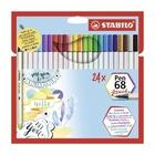 STABILO Pen 68 brush marcatore Multicolore 24 pezzo(i)