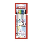 STABILO Pen 68 brush marcatore Multicolore 8 pezzo(i)