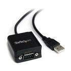 STARTECH Cavo adattatore RS-232 USB FTDI a seriale 1 porta, con interfaccia COM