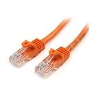 STARTECH Cavo di rete CAT 5e - Cavo Patch Ethernet RJ45 UTP Arancio da 1m antigroviglio