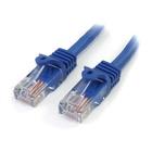 STARTECH Cavo di rete CAT 5e - Cavo Patch Ethernet RJ45 UTP Blu da 2m antigroviglio