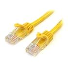 STARTECH Cavo di rete CAT 5e - Cavo Patch Ethernet RJ45 UTP Giallo da 2m antigroviglio