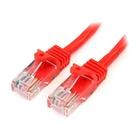 STARTECH Cavo di rete CAT 5e - Cavo Patch Ethernet RJ45 UTP Rosso da 1m antigroviglio