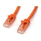 STARTECH Cavo di rete CAT 6 - Cavo Patch Ethernet RJ45 UTP arancione da 1m antigroviglio - cavo gigabit categoria 6
