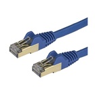 STARTECH Cavo di Rete Ethernet Cat6a - Cavo Schermato STP da 2m - Blu