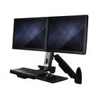 STARTECH Stazione di Lavoro Sit Stand montabile a Parete - Doppio Monitor