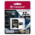 Transcend 32GB microSDHC Classe 10 UHS-I + Adattatore