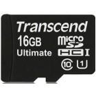 Transcend TS16GUSDHC10U1 16GB MicroSDHC Card + Adattatore
