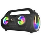 Trekstor iBeat Party Portatile Bluetooth RGB, Blu Nero con Microfono per fare Karaoke