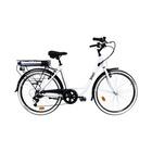 """Vivobike City Bike VC26G 26"""" Cambio Shimano Bianco, Nero"""