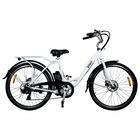 "Vivobike City Bike VC26W 26"" Motore 250W 7 Velocità Nero, Bianco"