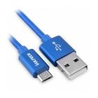 Vultech SM-N31BL cavo USB 1 m 2.0 USB A Micro-USB B Blu, Argento