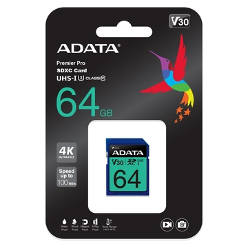 Per Sony Alpha A6000 fotocamera digitale 64GB Adata SD Scheda Di Memoria 100MB//s XC
