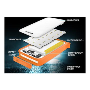 Adata D8000L Power Bank Arancione, Trasparente 8000 mAh