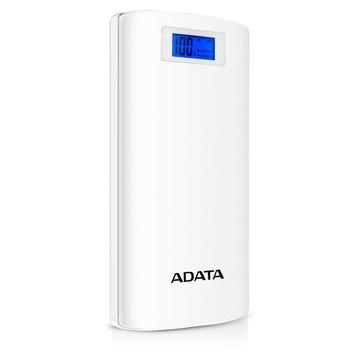Adata P20000D Power Bank Bianco Ioni di Litio 20000 mAh con Luce Led incorporata