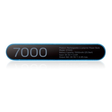 Adata X7000 Polimeri di litio 7000 mAh Nero, Blu
