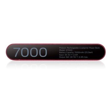 Adata X7000 Polimeri di litio 7000 mAh Nero, Rosso