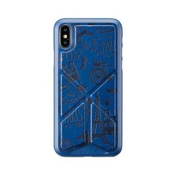 Cover per iphone x e xs parigi blu