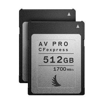Angelbird AV Pro CFExpress 2.0 Type-B 1TB Match Pack per Canon EOS C300 Mark III e C500 Mark II (2x512GB CFexpress)