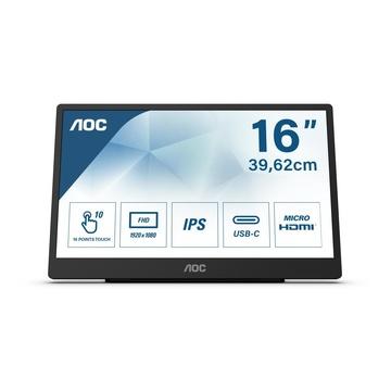 "AOC 16T2 Touch 15.6"" FullHD 4ms 60Hz Nero"