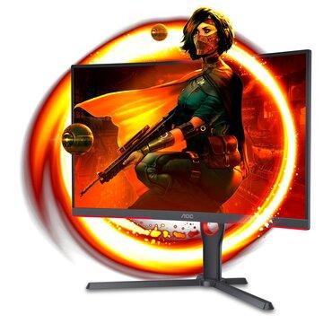 """AOC C27G3U/BK 27"""" Full HD LED Nero, Rosso"""