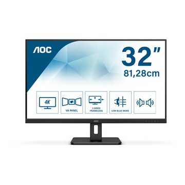 "AOC Essential-line U32E2N LED 31.5"" 4K Ultra HD 4ms 60Hz Nero"