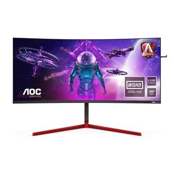 "AOC Gaming AG353UCG monitor piatto per PC 35"" 2K WQHD LED Nero, Rosso"