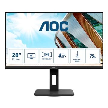 "AOC P2 U28P2A 28"" 4K Ultra HD LED Nero"