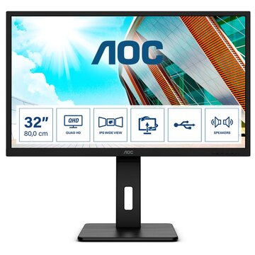 """AOC Q32P2CA 31.5"""" 2K Ultra HD LED Nero"""